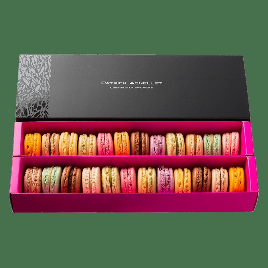 Patrick Agnellet : Chocolatier-Pâtissier Annecy : Boite de 20 macarons